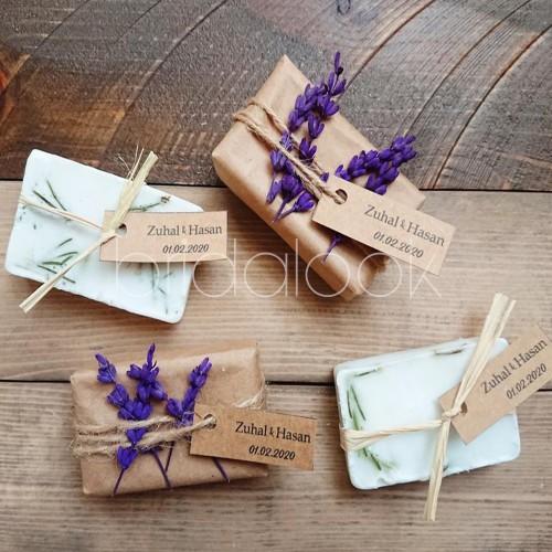 Lavantalı süslemeli Paketli Sabun