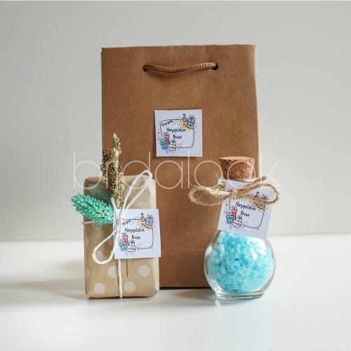 Doğum günü hediye set Kokulu Tuz&Sabun set