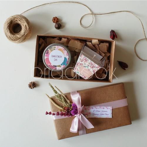 Elma Çayı & Vanilya/Yasemin Mika Mum Set