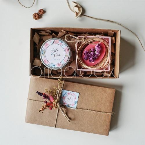 Gül Lokum & Gül Sabunu kutu nikah şekeri