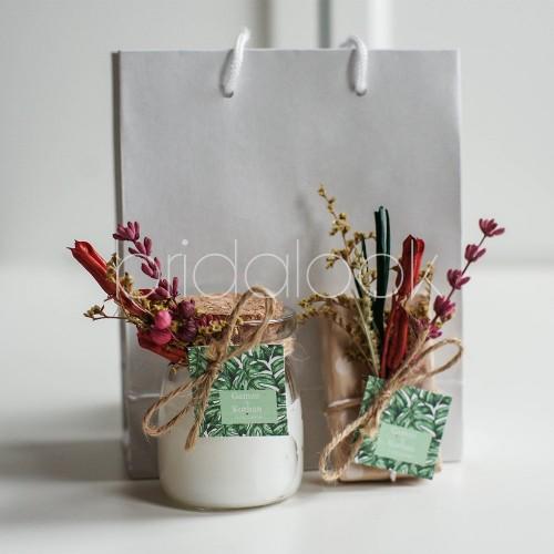 İğde Kokulu Mum&Sabun Set