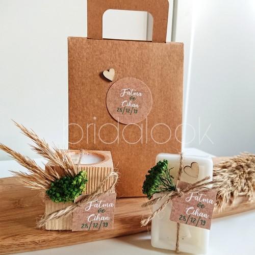 Mum&tüp Çantalı Nikah Şekeri Set