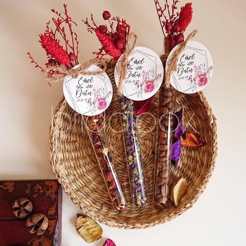 Kuru Çiçek Detaylı Bitki Çayı  Tüpleri