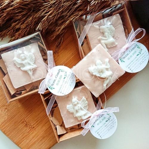 Melek Kabartmalı Kutu Sabun