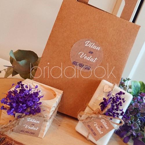 Küp Mum&sabun Çantalı Nikah Şekeri Set