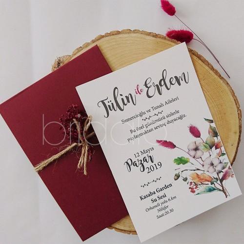Blossoming Bauquet davetiye