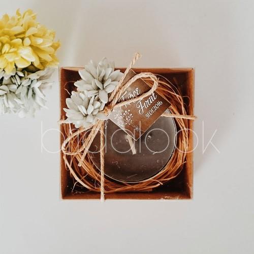 Çiçekli Kutu Mum 5