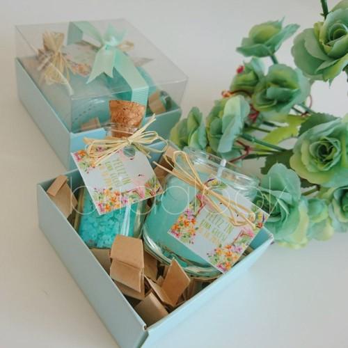Mint Yeşili Mum ve Kokulu Banyo Tuzu