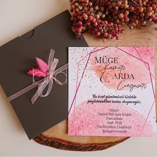 Pink Blush davetiye